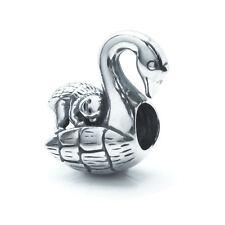 Sterling Silver Monkey Swan Bird Ride Bead For European Charm Bracelets