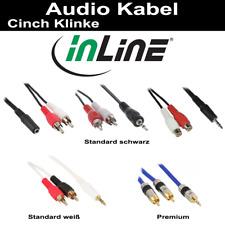 InLine Audiokabel, div. Anschlüsse 0.2m-25m Cinch/Klinke Standard Premium