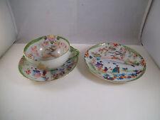 Vintage China Teacup Tea Cup & Two Saucers Saucer