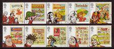 Gran Bretagna 2012 Comics Set di 10 IN STRISCE DI 5 BELLE USATO