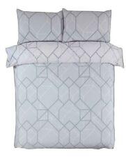 Geometric Grey Duvet Quilt Cover Pillowcase Bed Bedding Set Single Double King