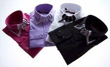 Designer Herren Hemd klassischer 3 Kragen 2 Knopf Herrenhemd Slim Fit  tailliert
