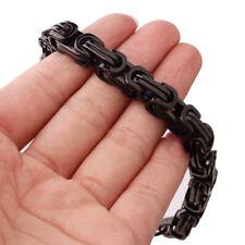 Charm Black Mens/Womens Jewelry Stainless Steel Byzantine Chain Bracelet 4/6/8mm