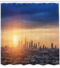 City Shower Curtain Sunrise at Los Angeles Print for Bathroom