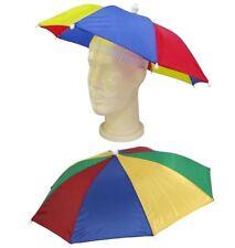 Unisex Multi Color Novelty Umbrella Hat Adult Rain Festival Fancy Accessory