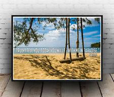 Christian Inspirational Poster - Luke 23:43 - Kingdom Paradise Joy - ALL SIZES