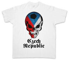 Classic Football Czechia Skull Flag t-shirt – fútbol fan intergalactico Chequia