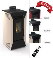 Stufa a pellet Courmayeur aria ventilata da 8,74 kw per riscaldamento casa 200mc