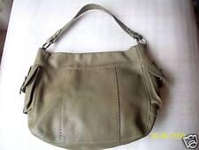 CARLA MANCINI Handbag Tote  Rare Leather Green ON SALE  Free Ship