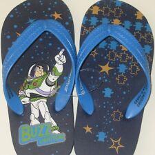 Toy Story Flip Flops boys Buzz Lightyear 7/8 9/10 Blue Stars NEW sandals