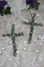 Kreuze Tischdeko Deko Streudeko Hochzeit Kommunion Taufe Buchsbaum Perlen