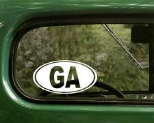 GA GEORGIA DECAL 2 Oval Stickers For Car Truck Laptop Rv Window Bumper Jeep Boat
