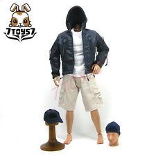 Wild Toys 1/6 Adventure & Tactical_ Blue Set _Stealth Jacket Hoodie Pants WT011B