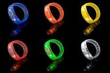 New Light Up LED Bracelets Flashing Glow Wrist Band Blinking Bangle Party Fun UK