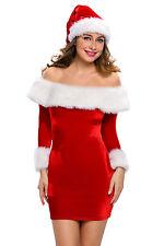 Sexy Women's Santa Christmas Fancy Dress Costume Xmas