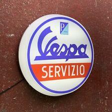 VESPA SERVIZIO LED LIGHT SIGN LOGO GARAGE VINTAGE PIAGGIO LAMBRETTA SCOOTER
