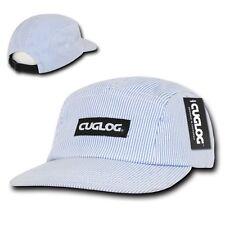 CUGLOG Seersucker 5 Panel Racer Caps Stripped Strapback Hats Caps