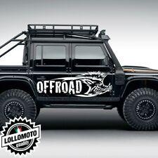 2x Adesivi Cinghiale Offraod  Fuoristrada Fiancate Cofano Jeep Suzuki Offroad 4x