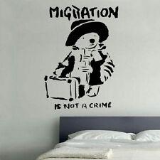 Banksy POOH dichiarazione Decalcomania In Vinile Adesivo Parete Arte ha STREET