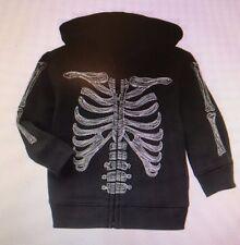 GYMBOREE NWT Boy Hoodie Top Sweatshirt Shirt GLOW IN THE DARK Skeleton HALLOWEEN