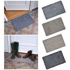 Absorbent Barrier Floor Door Mat Cotton Blend Non-Slip Rubber Backing 70x45cm