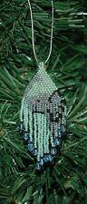 Hand Beaded Elephant Christmas Ornament