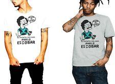 Pablo Escobar T-Shirt El Patron Del Mal Plata O Plomo Cartoon Humor Gangster Tee