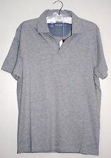 NWT Scott James Designer Mens Walton Heather Gray Polo Shirt  Small or Med