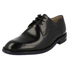 Hombre CLARKS SWINLEY encaje elegante Negro Zapatos De Piel Con Cordones