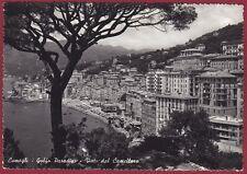 GENOVA CAMOGLI 34 CASTELLARO GOLFO PARADISO Cartolina FOTOGRAFICA viaggiata 1956