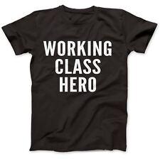Working Class Hero Comme Porté Par John Lennon T-shirt 100% Premium Coton Imagine