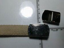 cintura 2 cm BEIGE CON fibbia SCATT militare COLOR ARGENTO military belt man
