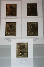 AJMAN 1968 Block 27-31 Winter Olympics Grenoble Medal Winner Ice Hockey Gold MNH