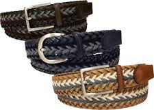Cintura treccia unisex in cuoio e lana 35 mm
