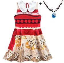 Lovely Girls Moana Sleeveless Party Holiday Birthday Dress Costume  O14ZG