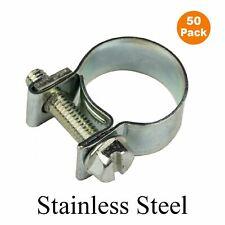 50 x mini colliers de serrage en acier inoxydable clips, air carburant eau liquide de refroidissement & reniflard