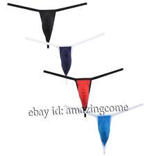 Men G-String Posing Strap Underwear Swimwear Guy Diamond Back Secret Pouch Thong
