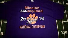 Clemson Tigers  Mission ACComplished 2016 National Champions Tshirt