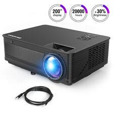 "Excelvan M5 Home Theater 120"" LED Projector Video FHD 1080P HDMI VGA AV USB"