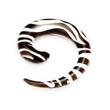 Acryl Dehnschnecke Zebra Schwarz Weiß Hole Expander Ohr PIERCING Zebramuster