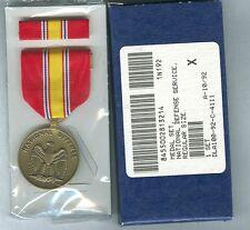 National Defense Medal & Ribbon Bar - Gi Issue set - Defense Service - U.S.