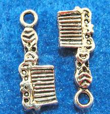 20Pcs. Tibetan Silver COMB Charms Pendants Drops Jewelry Findings PR150