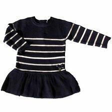 Week-end à la mer Kleid Strickkleid Knitwear Pailletten blau  62 68 74 80 86 92