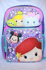 Disney TSUM TSUM Girls Backpack Bookbag School Princess TsumTsum Pink Purple Kid