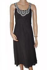BN Ladies Black Emboirdery Evening Dress - UK 10, 12 & 14