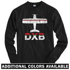 Fly Dubai DXB Airport Long Sleeve T-shirt LS - Emirates UAE Plane - Men / Youth