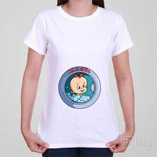 Funny pregnancy ladies girls women T-shirt WASHING MACHINE BABY GIRL - pregnant