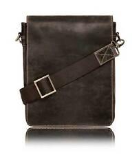 Sac en cuir comprimé Messenger à bandoulière NEUF iPad Marron