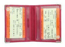 Visconti In Pelle Oyster Card / Travel Pass holder con metallo angolo Protettori TC5
