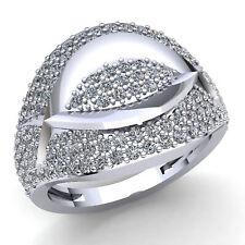 Real 3carat Round Cut Diamond Ladies Vintage Cluster Bridal Fancy Ring 10K Gold